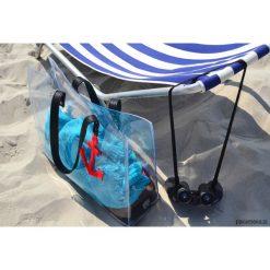 Przezroczysta torba plażowa. Czarne torby plażowe Pakamera, ze skóry. Za 150,00 zł.