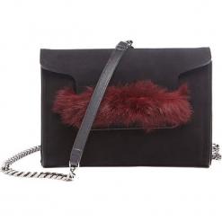 Torebka w kolorze czarno-bordowym - (S)24 x (W)16 x (G)5 cm. Czarne torebki klasyczne damskie Tosca Blu, w paski, z materiału. W wyprzedaży za 349,95 zł.