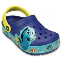 Crocs Buty Crocslights Finding Dory Clog K Cerulean Blue/Lemon 23-24 (c7). Niebieskie buciki niemowlęce chłopięce Crocs, z paskami. W wyprzedaży za 139,00 zł.