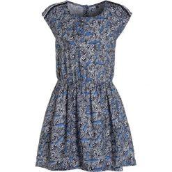 Sukienki dziewczęce z falbanami: 3 Pommes KID BLUE LOVE DRESS SHORT SLEEVES Sukienka koszulowa marine
