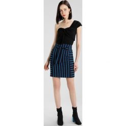 Spódniczki trapezowe: Karen Millen STRIPE SLEEVE COLLECTION Spódnica trapezowa blue/multi