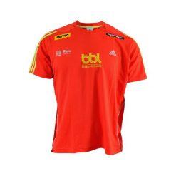 Koszulka BiegamBoLubię męska. Brązowe koszulki sportowe męskie Adidas, l, z materiału. Za 69,99 zł.