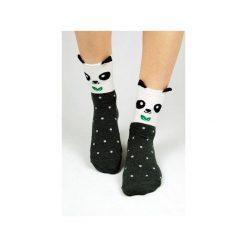 Skarpetki damskie: Skarpetki z pandą w kropeczki