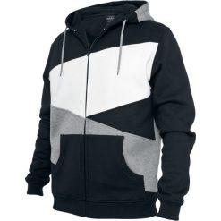 Urban Classics Zig Zag Zip Hoodie Bluza z kapturem rozpinana czarny/szary/biały. Białe bluzy męskie Urban Classics, l, z kapturem. Za 164,90 zł.