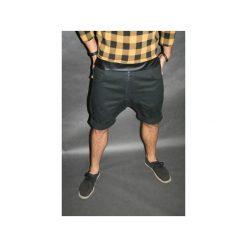 Bermudy damskie: Button drill short pants krótkie spodenki czarne