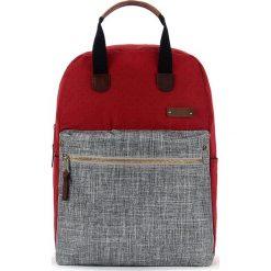 Plecaki męskie: Plecak w kolorze czerwono-szarym – 27 x 40 x 12 cm