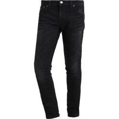 Spodnie męskie: Nudie Jeans SKINNY LIN Jeans Skinny Fit black shadow