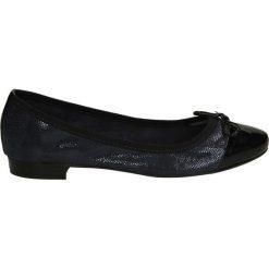 Baleriny - 6499 G-L BLU. Czarne baleriny damskie marki Venezia, z materiału, na obcasie. Za 159,00 zł.