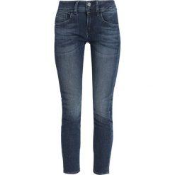 GStar LYNN MID ANKLE SKINNY Jeans Skinny Fit cerro stretch denim. Niebieskie rurki damskie G-Star, z bawełny. W wyprzedaży za 395,85 zł.