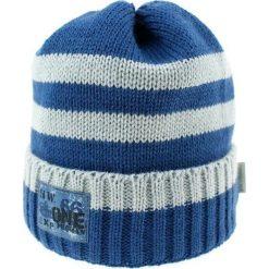 Czapka zimowa CZ 036C biało-niebieska r. 50-54. Białe czapeczki niemowlęce Proman, na zimę. Za 41,99 zł.