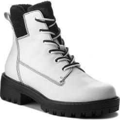 Trapery TAMARIS - 1-25214-21 White/Black 125. Białe buty zimowe damskie Tamaris, z materiału. Za 349,90 zł.