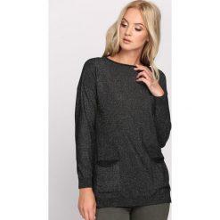 Swetry klasyczne damskie: Czarny Sweter Screaming