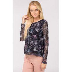 Bluzki asymetryczne: Bluzka z jesiennymi kwiatami