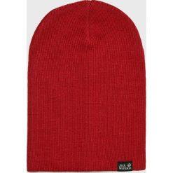 Jack Wolfskin - Czapka. Czerwone czapki zimowe męskie Jack Wolfskin, z dzianiny. W wyprzedaży za 59,90 zł.