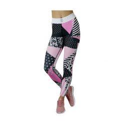 Spodnie damskie: GymHero Legginsy damskie 80S Pink r. M