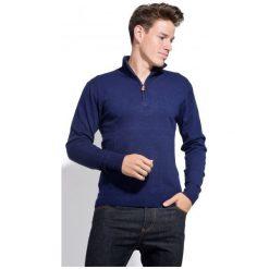 William De Faye Sweter Męski M Niebieski. Czarne swetry klasyczne męskie marki bonprix, m, z aplikacjami, z polaru. Za 259,00 zł.