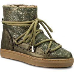 Buty INUIKII - Sneaker 70202-24 Burret Olive. Zielone buty zimowe damskie Inuikii, z materiału. Za 1129,00 zł.