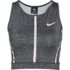 Nike Performance TANK Koszulka sportowa black/heather/particle rose/particle rose. Czarne topy sportowe damskie marki Nike Performance, xl, z elastanu. W wyprzedaży za 125,30 zł.