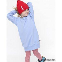 TUNIKA - błękit. Niebieskie sukienki dziewczęce z falbanami Pakamera, z bawełny. Za 89,00 zł.