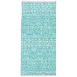 Kąpielówki męskie: Chusta hammam w kolorze turkusowym – 180 x 100 cm