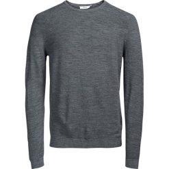 Kardigany męskie: Sweter z okrągłym dekoltem 100% wełny merynosów