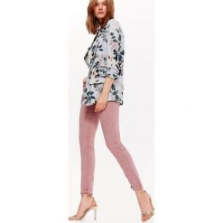 Spodnie damskie: SPODNIE RURKI Z OPRANEJ TKANINY