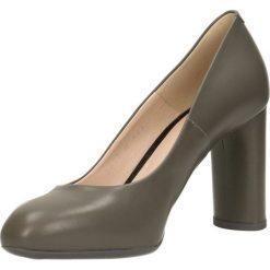 Czółenka IZO. Szare buty ślubne damskie Gino Rossi, ze skóry, na słupku. Za 249,90 zł.