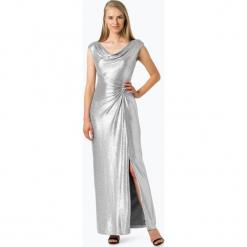 LAUREN RALPH LAUREN - Damska sukienka wieczorowa, szary. Białe długie sukienki marki BIALCON, na imprezę, w koronkowe wzory, z koronki, z kopertowym dekoltem, kopertowe. Za 599,95 zł.