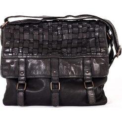 Torebki klasyczne damskie: Skórzana torebka w kolorze czarnym – 28 x 27 x 4 cm