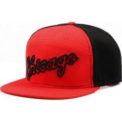 Czapka męska snapback czerwono-czarna (hx0286). Czarne czapki z daszkiem męskie Dstreet, z haftami, eleganckie. Za 69,99 zł.