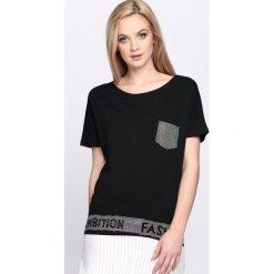 T-shirty damskie: Czarny T-shirt Fashion