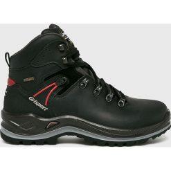 Grisport - Buty. Czarne buty trekkingowe męskie Grisport, na zimę, z materiału, na sznurówki, outdoorowe. Za 469,90 zł.