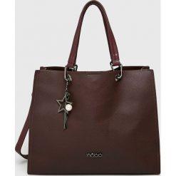 Nobo - Torebka. Brązowe torebki klasyczne damskie marki Nobo, w paski, z materiału, duże. Za 219,90 zł.