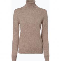 Franco Callegari - Sweter damski z czystego kaszmiru, beżowy. Zielone swetry klasyczne damskie marki Franco Callegari, z napisami. Za 579,95 zł.