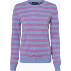 Franco Callegari - Sweter damski z czystego kaszmiru, niebieski. Zielone swetry klasyczne damskie marki Franco Callegari, z napisami. Za 499,95 zł.