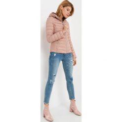 Odzież damska: Pikowana kurtka z kapturem