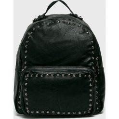 Answear - Plecak. Czarne plecaki damskie ANSWEAR, w paski, ze skóry ekologicznej. W wyprzedaży za 69,90 zł.