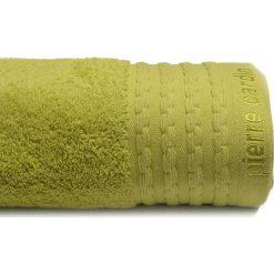 Kąpielówki męskie: Ręcznik w kolorze ciemnozielonym