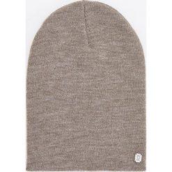 Czapka - Beżowy. Brązowe czapki damskie Reserved. Za 49,99 zł.