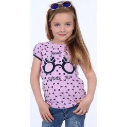 T-shirty dziewczęce: Bluzka dziewczęca we wzory fioletowa NDZ8197