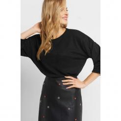 Sweter z balonowymi rękawami. Czarne swetry klasyczne damskie marki Orsay, xs, z poliesteru. Za 59,99 zł.