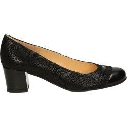 Czółenka - VEKB32 NER BC. Czarne buty ślubne damskie Venezia, ze skóry. Za 199,00 zł.