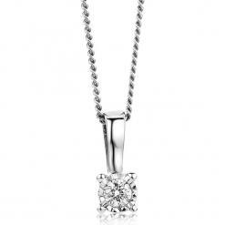 Złoty naszyjnik z zawieszką z diamentem - dł. 45 cm. Żółte naszyjniki damskie marki METROPOLITAN, pozłacane. W wyprzedaży za 646,95 zł.