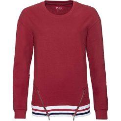 Bluzy rozpinane damskie: Bluza dresowa, długi rękaw bonprix czerwony