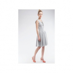 Sukienka z dresówki bez rękawów SL2156. Czarne sukienki dresowe marki Soleil, na imprezę, s, w kolorowe wzory, z długim rękawem, mini, dopasowane. Za 120,00 zł.
