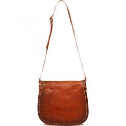 Skórzana torebka w kolorze brązowym - 32 x 28 x 8 cm. Brązowe torebki klasyczne damskie I MEDICI FIRENZE, w paski, z materiału. W wyprzedaży za 565,95 zł.