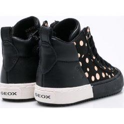Geox - Buty dziecięce. Czarne półbuty damskie skórzane Geox, sportowe. W wyprzedaży za 199,90 zł.