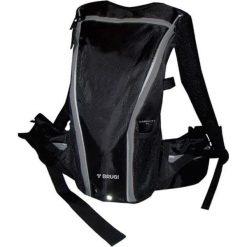 Plecak rowerowy w kolorze czarnym. Czarne plecaki męskie Ciepło i przytulnie, z nadrukiem, z materiału. W wyprzedaży za 89,00 zł.