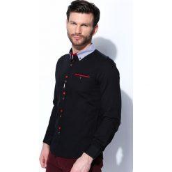 Koszule męskie na spinki: Czarna Koszula Odd Man Out