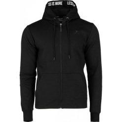 Bluza męska BLM605 - czarny - Outhorn. Czarne bluzy męskie rozpinane Outhorn, na lato, m, z bawełny. W wyprzedaży za 79,99 zł.